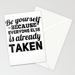 Be Yourself Because Everyone Else Is Already Taken Blk | Oscar Wilde Stationery Cards