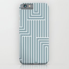 White & Pale Denim Blue Art Decor Pattern 2 Inspired by 2020 Color of the Year Good Jeans iPhone Case