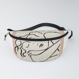 Henri matisse sleeping woman, matisse cut outs, cream and pink Fanny Pack