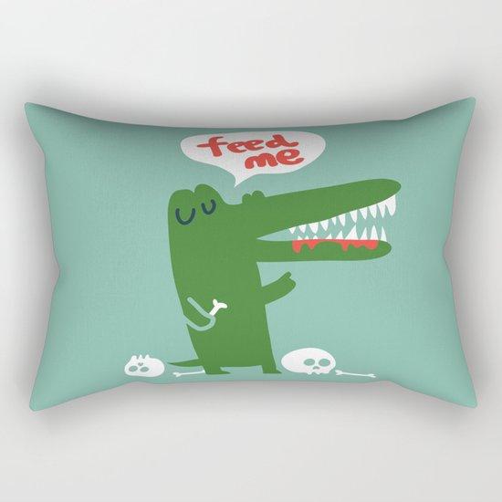 Hungry Hungry Alligator Rectangular Pillow