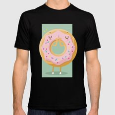 Donut Black Mens Fitted Tee MEDIUM