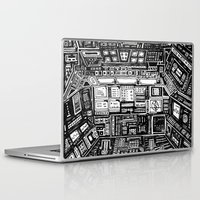 cabin Laptop & iPad Skins featuring Lost cabin 666 by Marcelo Romero