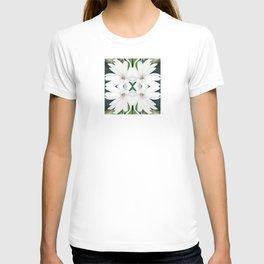 Art Nouveau White Flower T-shirt