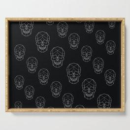 Skull Aesthetics Pattern Serving Tray