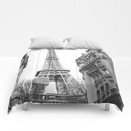The Eifel tower in Paris Comforters