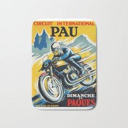 Grand Prix de Pau, Race poster, vintage motorcycle poster, retro poster, Bath Mat