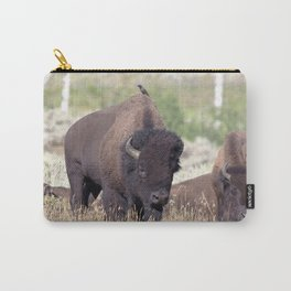 Watercolor Bison Herd 06, Yellowstone, WY Carry-All Pouch