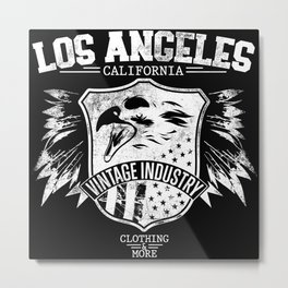 Los Angeles california clothing and more white Metal Print