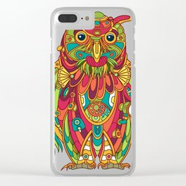 Owl, cool art from the AlphaPod Collection Clear iPhone Case