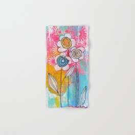 flower garden no.01 Hand & Bath Towel