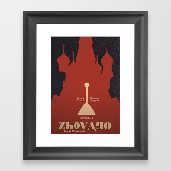 Doctor Zhivago, David Lean, Omar Sharif, Julie Christie, Boris Pasternak, Alternative Movie Poster Framed Art Print