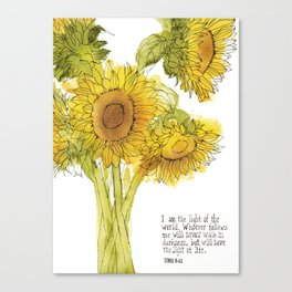 Light of the World - Sunflowers Canvas Print