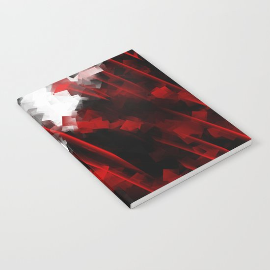 black and white meets red Version 6 Notebook