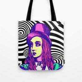 Purple Alice Vortex Tote Bag
