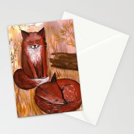 Brother Foxes Stationery Cards
