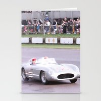 mercedes Stationery Cards featuring Mercedes Benz Silberpfeil with Stirling Moss by Premium
