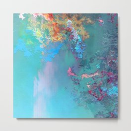 Abstract Oil on Canvas Metal Print