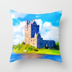 Dunguaire Castle On Galway Bay In Ireland Throw Pillow