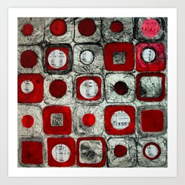 Musicial Squares Art Print