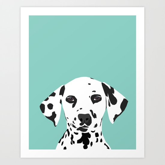 Dalmatian cute puppy dog black and white mint pastel gender neutral pet owner gifts love animals by petfriendly