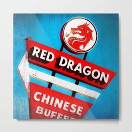 The Red Dragon Metal Print