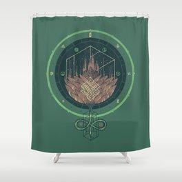 Fading Dahlia Shower Curtain