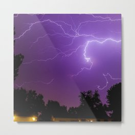 Electrifying Metal Print