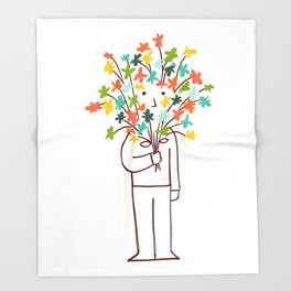 I bring flowers Throw Blanket