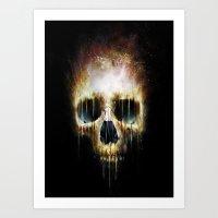 Skull Flame Art Print