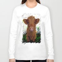 cow Long Sleeve T-shirts featuring cow by Vector Art