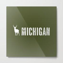 Deer: Michigan Metal Print