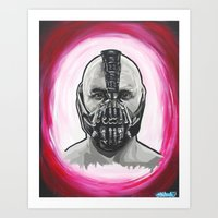 bane Art Prints featuring Bane by Michael J Illustrations