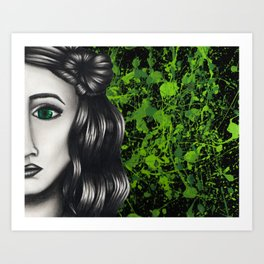 Green Eyes Art Print