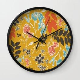 Spring flower mustard Wall Clock
