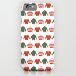 Christmas jumpers iPhone Case