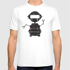 ROBO SI BW SMALL Mens Fitted Tee White
