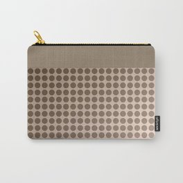 Pink beige polka dot pattern . Carry-All Pouch