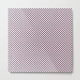 Ruby Polka Dots Metal Print