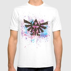 Splash Triforce Emblem MEDIUM White Mens Fitted Tee