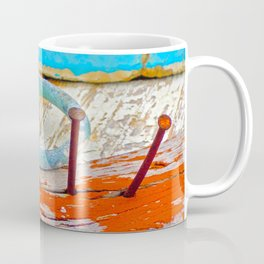 A boat that was washed ashore on Ageon Sea, decaying in the sun. Coffee Mug
