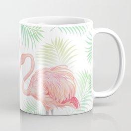 Flamingo Watercolour | Tropical Print | Palm Tree Leaves | Birds | Animals | Painting Coffee Mug