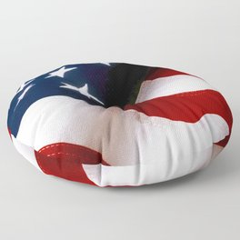 Waving American Flag Floor Pillow