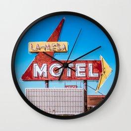 La-Mesa Motel Wall Clock