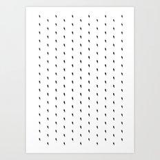 lightning bold pattern Art Print