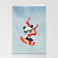 snowboard Stationery Cards featuring Snowboarding by Freeminds