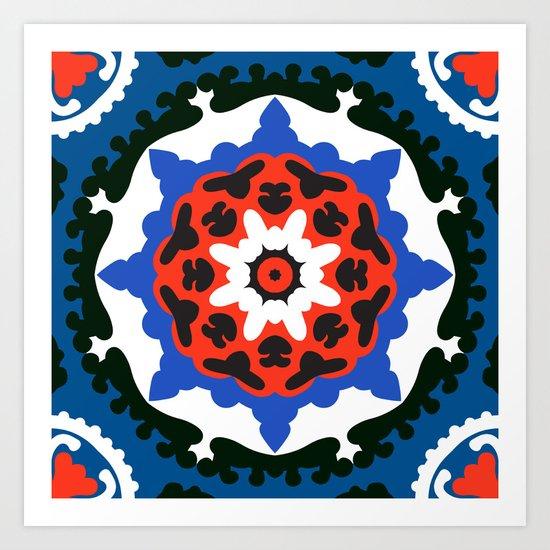 Bold and bright beauty of suzani patterns ver.7 Art Print