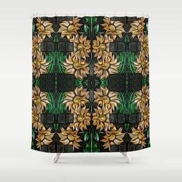 Yellow Double Garland Shower Curtain