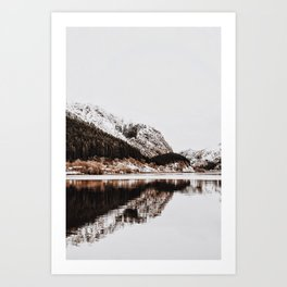 LAKE - OCEAN - BAY - SNOW - MOUNTAINS - HILLS - PHOTOGRAPHY Art Print