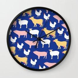 Farm Friends Wall Clock