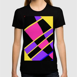Block abstract bold design bright colors T-shirt